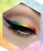 Shimmery Rainbow Winged Liner