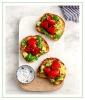 Basil Strawberry Avocado Toast