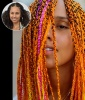 Alicia Keys' Technicolor Braids