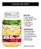 Chicken and Orzo Mason Jar Salad
