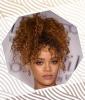 Rihanna's Tousled High Ponytail
