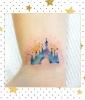 Cinderella's Castle Watercolor Tattoo