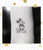 Sketched Mickey Tattoo