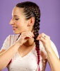 How to Dutch Braid: Step 7