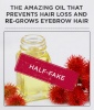 'The Amazing Oil That Prevents Hair Loss And Re-Grows Eyebrow Hair'
