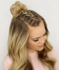 Mohawk French Braid Top Knot