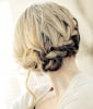 French Braid Low Updo