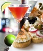 Cosmopolitans and Club Crostinis