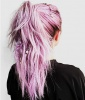 Lavender Braided Ponytail
