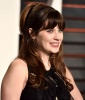 Zooey Deschanel's Retro Bangs With Long Hair