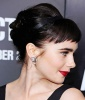 Lily Collins' Retro Spiky Short Bangs