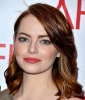 Emma Stone's Side-swept Auburn Locks
