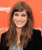 Lizzy Caplan's Signature Long Hair With Bangs