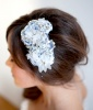 Rhinestone and Lace Bridal Comb, $325