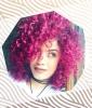 Pink Corkscrew Curls
