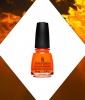 Best Summer Nail Colors: Fiery Orange