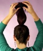 Sock Bun Tutorial Step 4: Slide Your Sock Bun Insert to the End of Your Ponytail