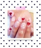 Dotted Valentine's Day Nails