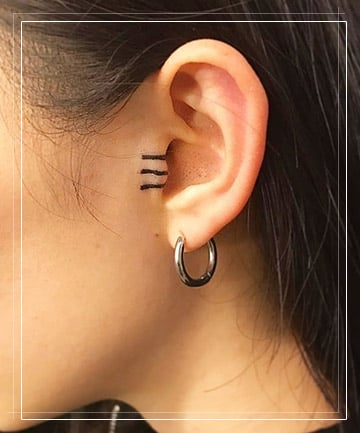 A Tiny Universe 21 Delicate Ear Tattoos That Are Better Than