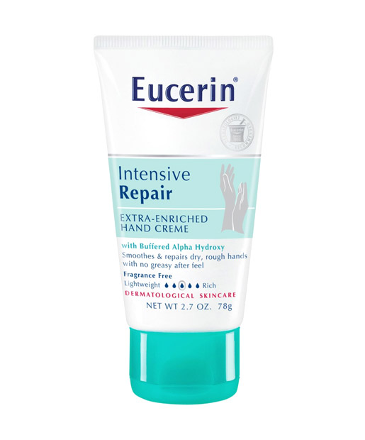 The Best No. 5  Eucerin Intensive Repair Extra Enriched Hand Creme, $5.99