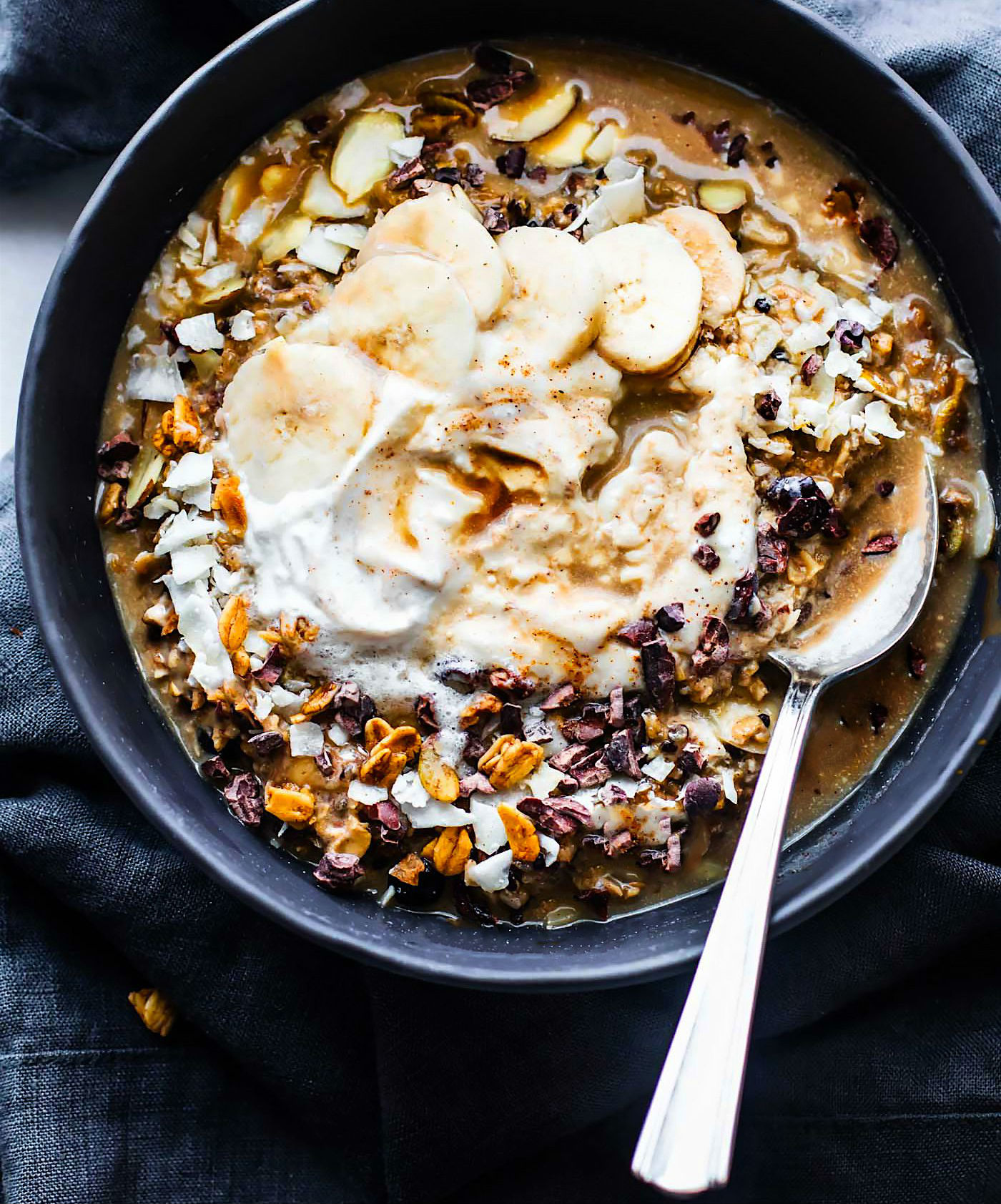 Vegan Dirty Chai Detox Breakfast Bowls