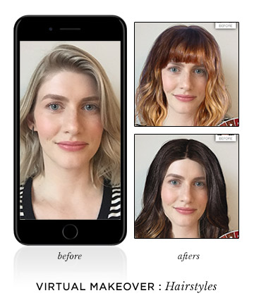 Awesome 9 Virtual Makeover Apps Try On Hair And Makeup Looks Short Hairstyles Gunalazisus