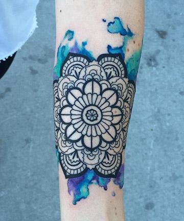b49caa9cb Watercolor Mandala, 17 Mandala Tattoos That Bring Out Your Inner ...
