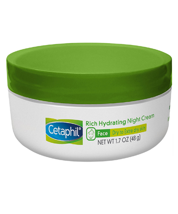 Cetaphil Rich Hydrating Night Cream with Hyaluronic Acid, $11.49