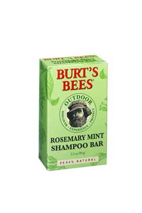 No. 3: Burt's Bees Rosemary Mint Shampoo Bar, $6