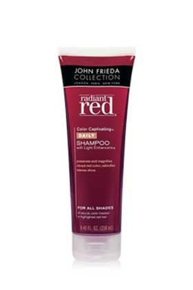 No. 2: John Frieda Radiant Red Color Captivating Shampoo, $6.49