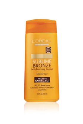 No. 4: L'Oreal Paris Sublime Bronze Self-Tanning Lotion SPF 15, $9.49