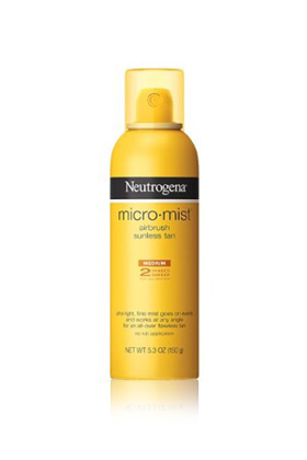 No. 1: Neutrogena MicroMist Tanning Sunless Spray, $9.49