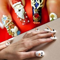 29 Spectacularly Tacky Holiday Nail Art Designs