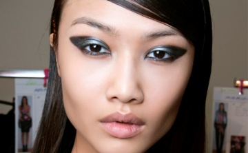 Asian eyes with makeup