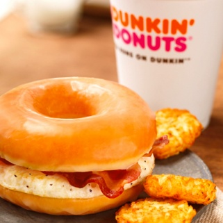 Dunkin Donuts' New Bacon, Egg, and Doughnut Sammy is The Healthiest Breakfast They Offer