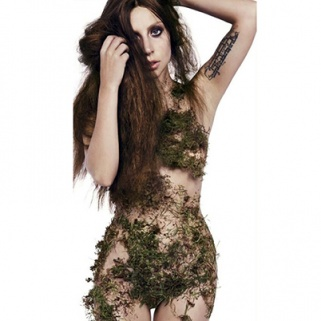 Lady Gaga Unveils Her Latest Creation: The Moss Dress