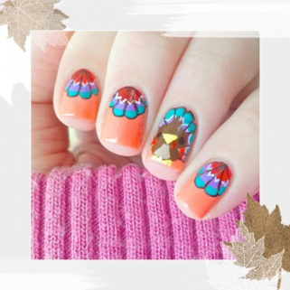 18 Thanksgiving and Fall Nail Art Ideas That Every Basic Girl Loves