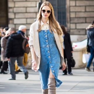 8 Chic Denim Dresses to Take You From Summer to Fall
