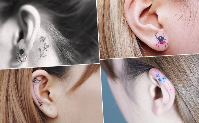 21 Delicate Ear Tattoos That Are Better Than Earrings