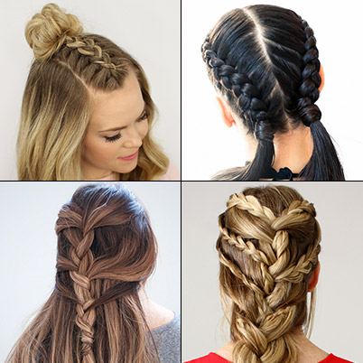French Braid Hairstyles - How to French Braid