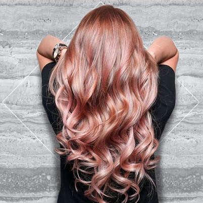 Incandescent Rose Gold Highlights 19 Rose Gold Hair Color Looks