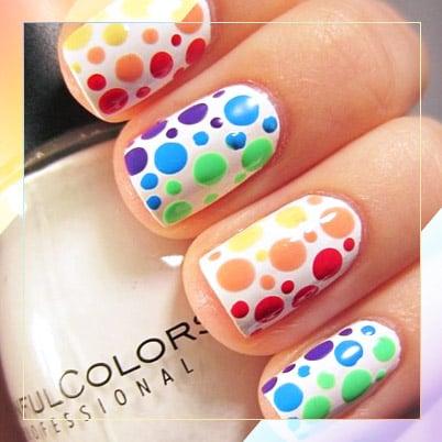 19 Rainbow Nail Designs That'll Make a Statement