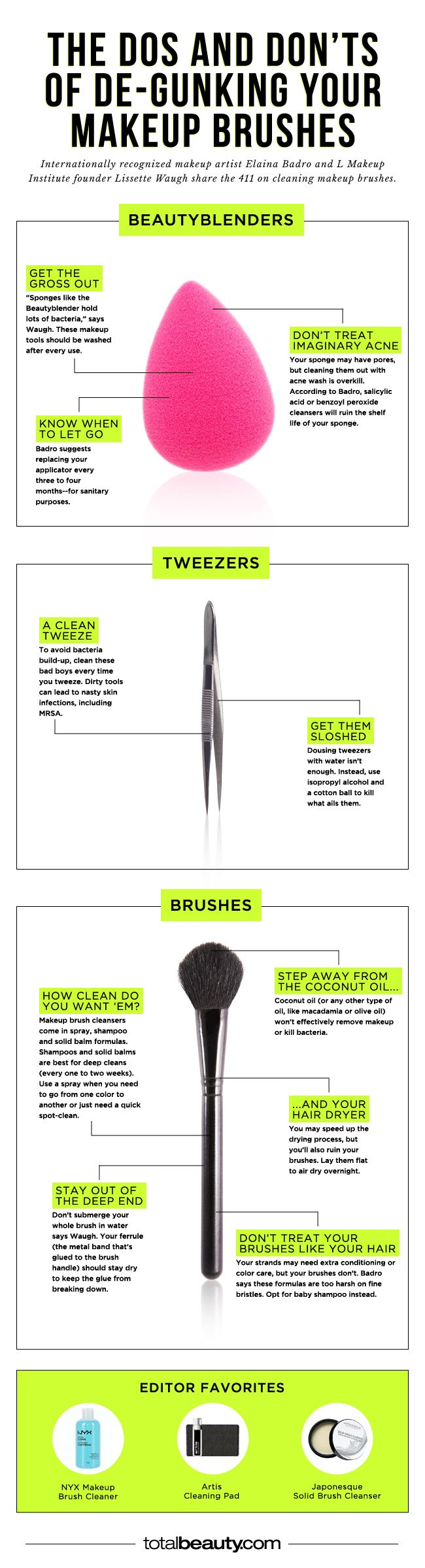you 39 re making these mistakes when cleaning your makeup brushes. Black Bedroom Furniture Sets. Home Design Ideas