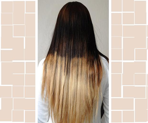 Растяжка цвета на волос