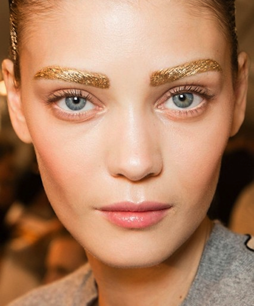 Diors Gold Eyebrows Would You Could You In Real Life