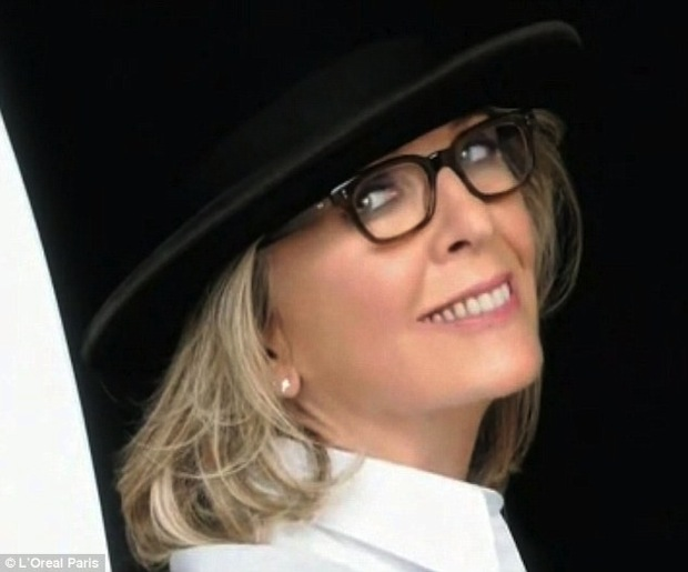 Diane Keaton in L'Oreal's Age Perfect Glow Renewal Ad