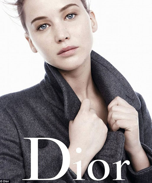 Jennifer Lawrence Goes Natural For Dior