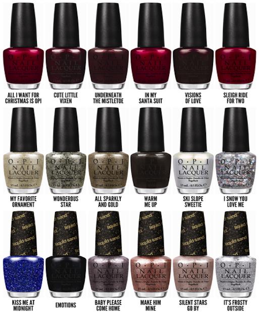 Mariah Carey\'s OPI Holiday Nail Collection