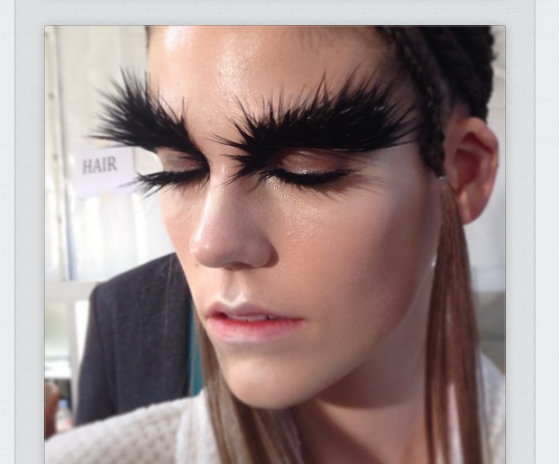Pat McGrath's Owl Eyes for Alexander McQueen