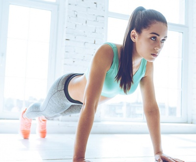 Arm workouts without weights: for a bit more challenging plank